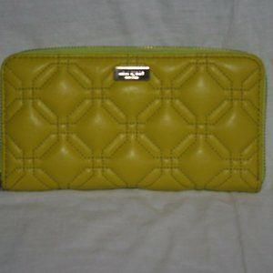 Kate Spade Chartreuse Quilted Leather Wallet